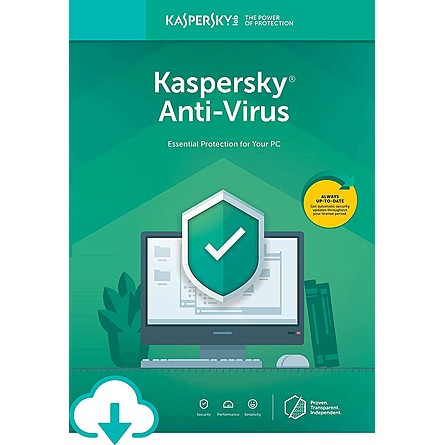 Phần Mềm Diệt Virus Kaspersky Anti-Virus (1 PC / 2 Years)