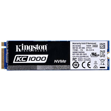 Ổ Cứng SSD Kingston KC1000 240GB NVMe M.2 PCIe Gen 3 x4 (SKC1000/240G)