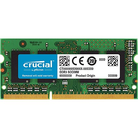 Ram Laptop Crucial 8GB (1x8GB) DDR3L 1600MHz (CT102464BF160B)
