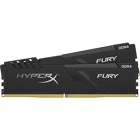 Ram Desktop Kingston HyperX Fury Black 16GB (2x8GB) DDR4 2666MHz (HX426C16FB3K2/16)