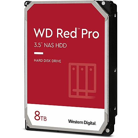 "Ổ Cứng HDD 3.5"" WD Red Pro 8TB NAS SATA 7200RPM 256MB Cache (WD8003FFBX)"