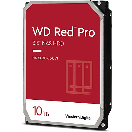 "Ổ Cứng HDD 3.5"" WD Red Pro 10TB NAS SATA 7200RPM 256MB Cache (WD101KFBX)"