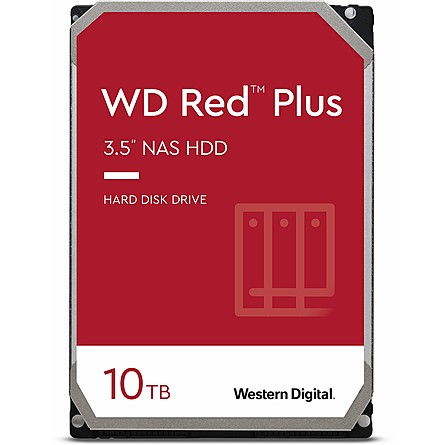 "Ổ Cứng HDD 3.5"" WD Red Plus 10TB NAS SATA 5400RPM 256MB Cache (WD101EFAX)"
