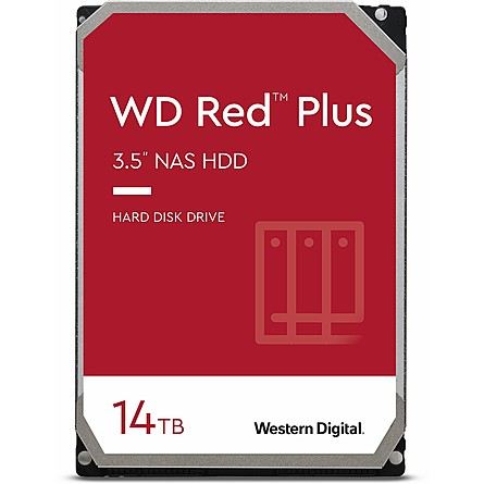 "Ổ Cứng HDD 3.5"" WD Red Plus 14TB NAS SATA 5400RPM 512MB Cache (WD140EFFX)"