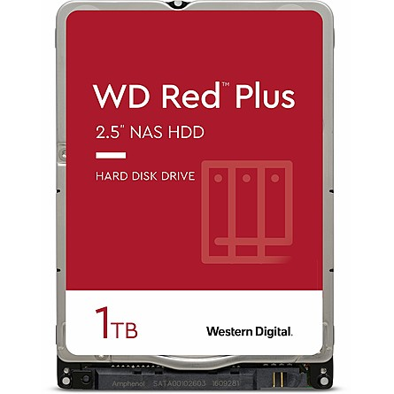 "Ổ Cứng HDD 2.5"" WD Red Plus 1TB NAS SATA 5400RPM 16MB Cache (WD10JFCX)"