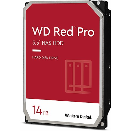 "Ổ Cứng HDD 3.5"" WD Red Pro 14TB NAS SATA 7200RPM 512MB Cache (WD141KFGX)"