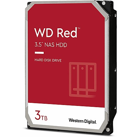 "Ổ Cứng HDD 3.5"" WD Red 3TB NAS SATA 5400RPM 256MB Cache (WD30EFAX)"
