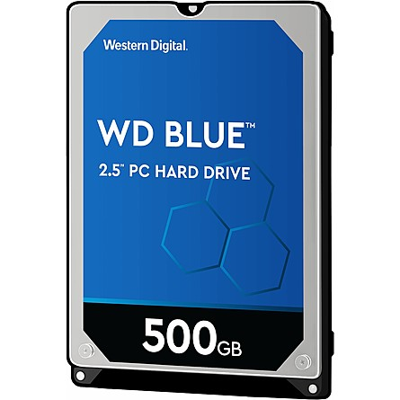 "Ổ Cứng HDD 2.5"" WD Blue 500GB SATA 5400RPM 16MB Cache (WD5000LPCX)"