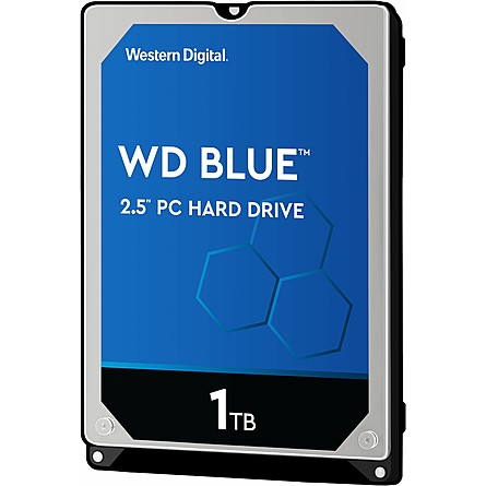 "Ổ Cứng HDD 2.5"" WD Blue 1TB SATA 5400RPM 16MB Cache (WD10SPCX)"