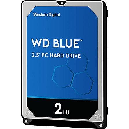 "Ổ Cứng HDD 2.5"" WD Blue 2TB SATA 5400RPM 128MB Cache (WD20SPZX)"