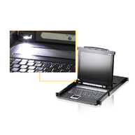 Aten CL1008M 17-Inch 8 Port LCD Monitor KVM for SMB