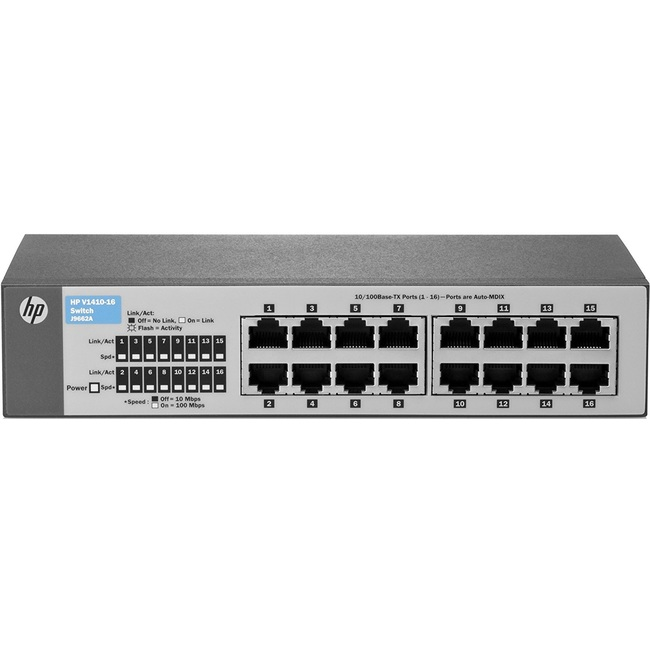 HPE OfficeConnect 1410 16-Port Fast Ethernet Switch (J9662A)