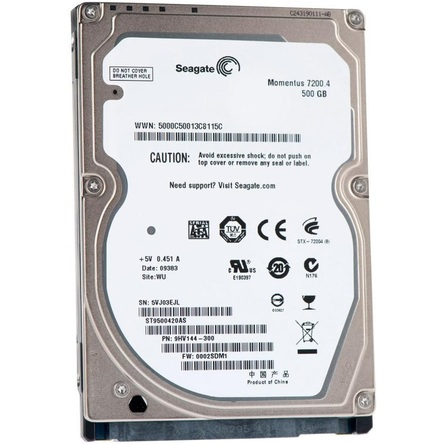 "Ổ Cứng HDD 2.5"" Seagate 500GB SATA 7200RPM 32MB Cache (ST500LM021)"