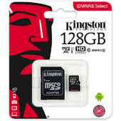 Thẻ Nhớ Kingston Canvas Select 128GB microSHDC UHS-I Class 10 + SD Adapter (SDCS/128GB)
