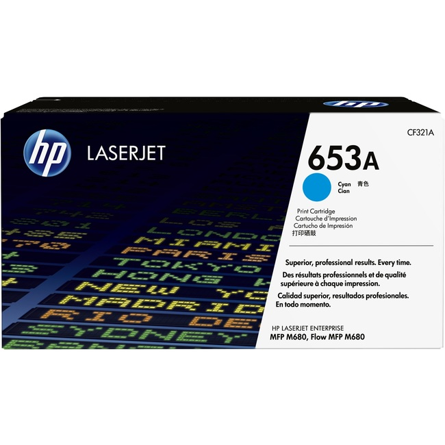Mực In Laser Màu HP 653A Cyan Original LaserJet Toner Cartridge (CF321A)