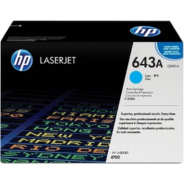 Mực In Laser Màu HP 643A Cyan Original LaserJet Toner Cartridge (Q5951A)