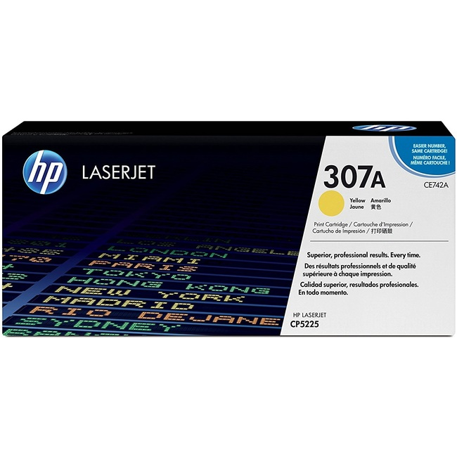 Mực In Laser Màu HP 307A Yellow Original LaserJet Toner Cartridge (CE742A)