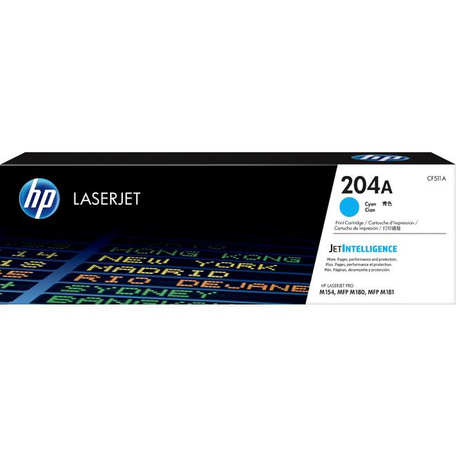 Mực In Laser Màu HP 204A Cyan Original LaserJet Toner Cartridge (CF511A)