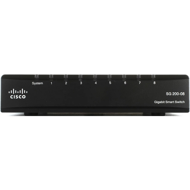 Cisco SG200-08 8-Port Gigabit Smart Switch (SLM2008T-EU)