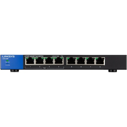 Linksys LGS108P 8-Port Business Desktop Gigabit POE+ Switch (LGS108P-AP)