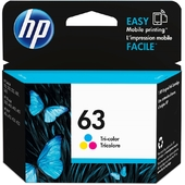 HP 63 Tri-color Original Ink Cartridge (F6U61AA)