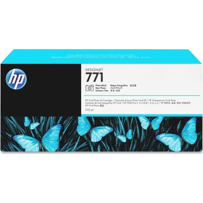HP 771 775-ml Photo Black DesignJet Ink Cartridge (CE043A)