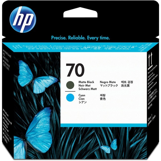 HP 70 Matte Black and Cyan DesignJet Printhead (C9404A)