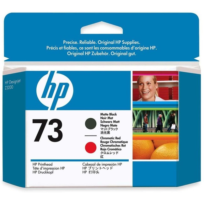 HP 73 Matte Black and Chromatic Red DesignJet Printhead (CD949A)