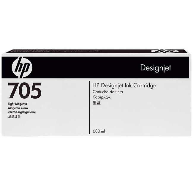 HP 705 680-ml Light Magenta DesignJet Ink Cartridge (CD964A)