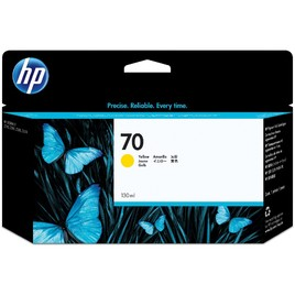 HP 70 130-ml Yellow DesignJet Ink Cartridge (C9454A)