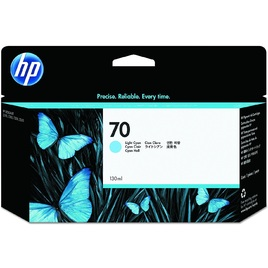 HP 70 130-ml Light Cyan DesignJet Ink Cartridge (C9390A)