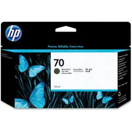 HP 70 130-ml Matte Black DesignJet Ink Cartridge (C9448A)