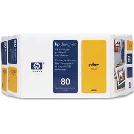 HP 80 Value Pack 350-ml Yellow Ink Cartridge and Printhead (C4893A)