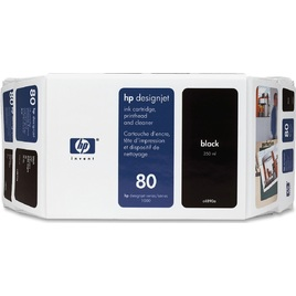 HP 80 Value Pack 350-Ml Black Ink Cartridge And Printhead (C4890A)