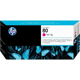 HP 80 Magenta Printhead and Printhead Cleaner (C4822A)