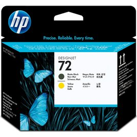 HP 72 Matte Black and Yellow DesignJet Printhead (C9384A)