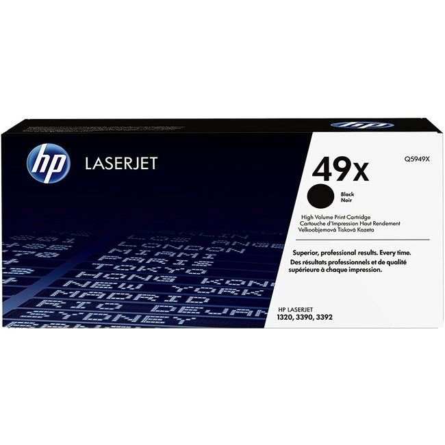 HP 49X Black LaserJet Toner Cartridge (Q5949X)