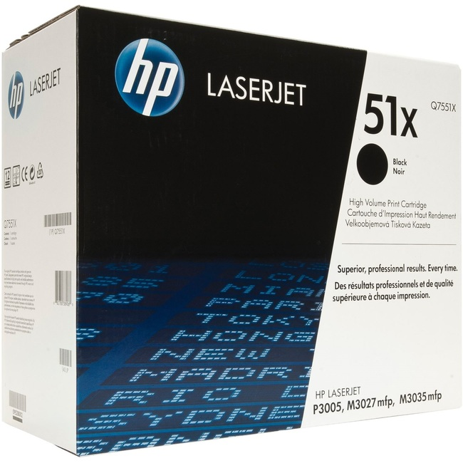 HP 51X High Yield Black Original LaserJet Toner Cartridge (Q7551X)