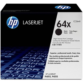 HP 64X High Yield Black Original LaserJet Toner Cartridge (CC364X)