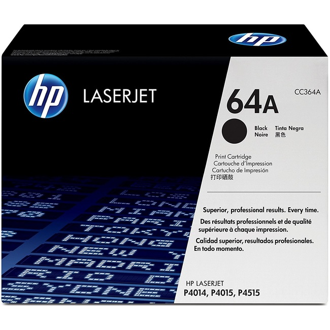 HP 64A Black Original LaserJet Toner Cartridge (CC364A)