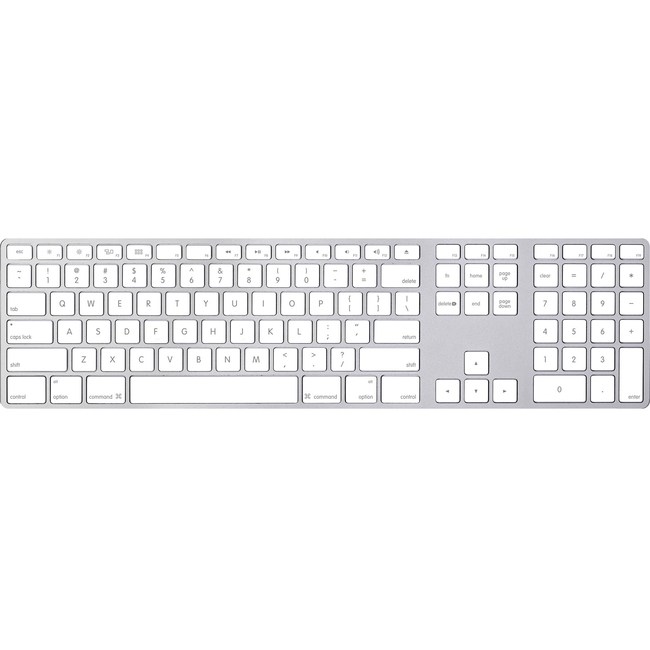 Apple Magic Keyboard With Numeric Keypad US English Bluetooth - Silver (MQ052ZA/A)