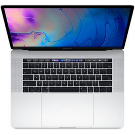 MacBook Pro 15 Retina 2018 Core i7 2.2GHz/16GB LPDDR4/256GB/555X 4GB/TouchBar + Touch ID Sensor - Silver (MR962SA/A)