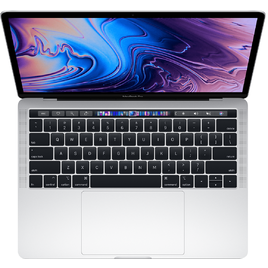 MacBook Pro 13 Retina 2019 Core i5 2.4GHz/8GB LPDDR3/256GB/Touch Bar + Touch ID Sensor - Silver (MV992SA/A)
