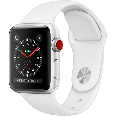 Apple Watch Series 3 GPS + Cellular 38mm Viền Nhôm Dây Cao Su (MTGN2VN/A)