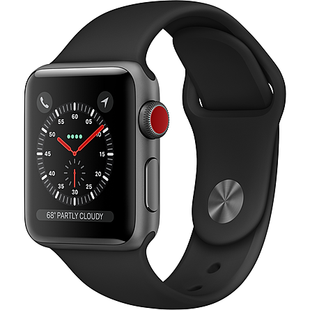 Apple Watch Series 3 GPS + Cellular 38mm Viền Nhôm Dây Cao Su (MTGP2VN/A)