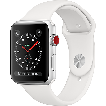 Apple Watch Series 3 GPS + Cellular 42mm Viền Nhôm Dây Cao Su (MTH12VN/A)