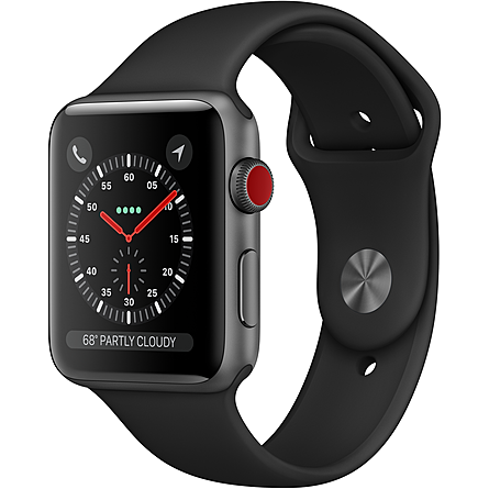 Apple Watch Series 3 GPS + Cellular 42mm Viền Nhôm Dây Cao Su (MTH22VN/A)