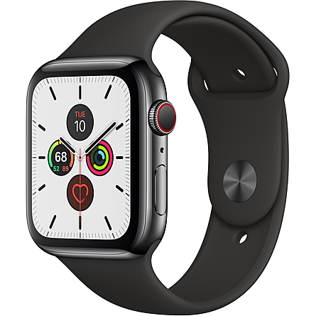 Apple Watch Series 5 GPS + Cellular 44mm Viền Thép Dây Cao Su (MWWK2VN/A)